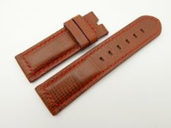 24mm/24mm Red Brown Wax Leather Watch Strap for Panerai #WT2022