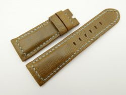 26mm/22mm Olive Green Wax Leather Watch Strap for Panerai #WT2040