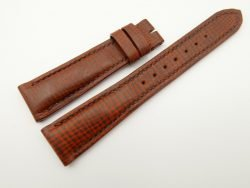 20mm/16mm Red Brown Wax Leather Watch Strap #WT2048