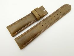 21mm/18mm Olive Green Wax Leather Watch Strap #WT2052
