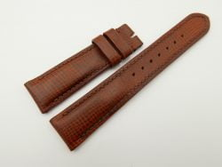 21mm/18mm Red Brown Wax Leather Watch Strap #WT2055