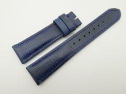 21mm/18mm Blue Wax Leather Watch Strap #WT2056