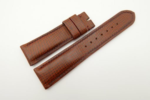22mm/20mm Red Brown Wax Leather Watch Strap #WT2058