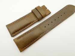 22mm/20mm Olive Green Wax Leather Watch Strap #WT2059