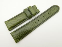 22mm/20mm Green Wax Leather Watch Strap #WT2060