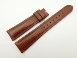 19mm/16mm Red Brown Wax Leather Watch Strap #WT2063