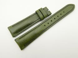 19mm/16mm Green Wax Leather Watch Strap #WT2064