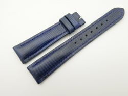 19mm/16mm Blue Wax Leather Watch Strap #WT2066