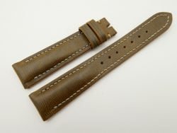 19mm/16mm Olive Green Wax Leather Watch Strap #WT2065