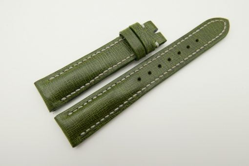 18mm/16mm Green Wax Leather Watch Strap #WT2070