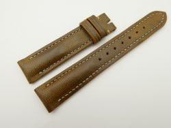 18mm/16mm Olive Green Wax Leather Watch Strap #WT2071