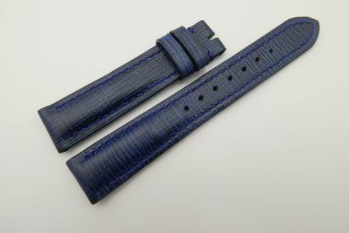 18mm/16mm Blue Wax Leather Watch Strap #WT2067