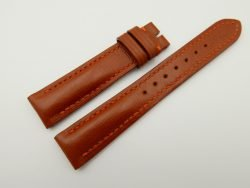 18mm/16mm Cognac Wax Leather Watch Strap #WT2068