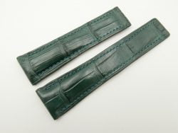 24mm/20mm Green Genuine Crocodile Skin Deployment strap for Breitling #WT2143