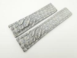 24mm/20mm Vintage Grey Genuine Python Skin Deployment strap for Breitling #WT2150