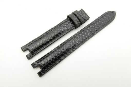 15mm/14mm Brown Genuine Lizard Leather Watch Strap for CARTIER #WT2191