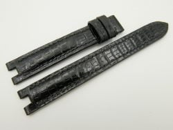 READ - 15mm/14mm Brown Genuine Lizard Leather Watch Strap for CARTIER #WT2197