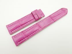 17mm/16mm Pink Genuine Crocodile Skin Leather Watch Strap #WT2235