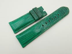 24mm/22mm Jade Green Genuine LIZARD Skin Leather Watch Strap for PANERAI #WT2267