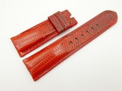 24mm/22mm Red Genuine LIZARD Skin Leather Watch Strap for PANERAI #WT2270