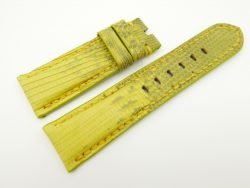 24mm/22mm Yellow Genuine LIZARD Skin Leather Watch Strap for PANERAI #WT2273