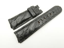 24mm/22mm Black Genuine PYTHON Skin Leather Watch Strap for PANERAI #WT2279