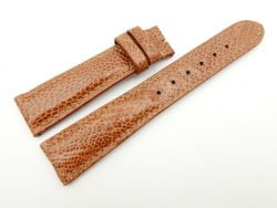 19mm/16mm Cognac Genuine OSTRICH Skin Leather Watch Strap #WT2319