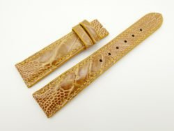 19mm/16mm Tan Brown Genuine OSTRICH Skin Leather Watch Strap #WT2321