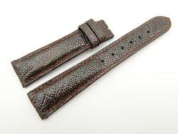 19mm/16mm Dark Brown Genuine OSTRICH Skin Leather Watch Strap #WT2327