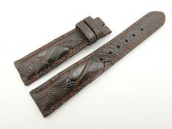 19mm/16mm Dark Brown Genuine OSTRICH Skin Leather Watch Strap #WT2328