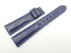 19mm/16mm Dark Blue Genuine OSTRICH Skin Leather Watch Strap #WT2330