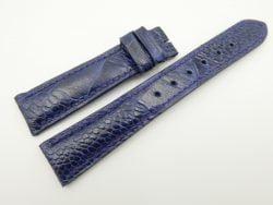 19mm/16mm Dark Blue Genuine OSTRICH Skin Leather Watch Strap #WT2331