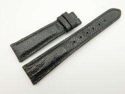 19mm/16mm Black Genuine OSTRICH Skin Leather Watch Strap #WT2333