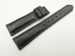 20mm/16mm Black Genuine OSTRICH Skin Leather Watch Strap #WT2335