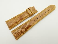 20mm/16mm Tan Brown Genuine OSTRICH Skin Leather Watch Strap #WT2338