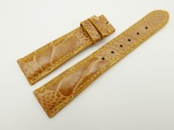 20mm/16mm Tan Brown Genuine OSTRICH Skin Leather Watch Strap #WT2339