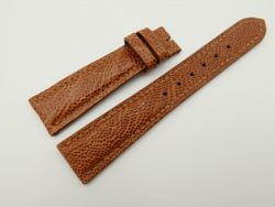 20mm/16mm Cognac Genuine OSTRICH Skin Leather Watch Strap #WT2340