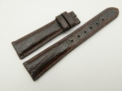 20mm/16mm Dark Brown Genuine OSTRICH Skin Leather Watch Strap #WT2345
