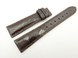 20mm/16mm Dark Brown Genuine OSTRICH Skin Leather Watch Strap #WT2344