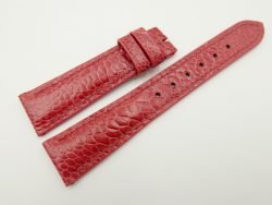 20mm/16mm Light Red Genuine OSTRICH Skin Leather Watch Strap #WT2350