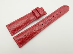 20mm/16mm Light Red Genuine OSTRICH Skin Leather Watch Strap #WT2351
