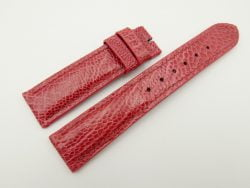20mm/18mm Light Red Genuine OSTRICH Skin Leather Watch Strap #WT2352