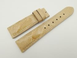20mm/18mm Beige Genuine OSTRICH Skin Leather Watch Strap #WT2354