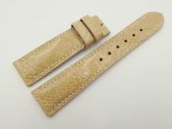 20mm/18mm Beige Genuine OSTRICH Skin Leather Watch Strap #WT2355