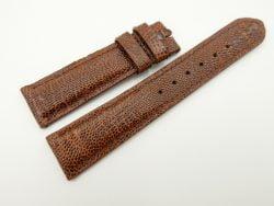20mm/18mm Brown Genuine OSTRICH Skin Leather Watch Strap #WT2358