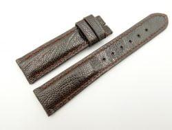 20mm/18mm Dark Brown Genuine OSTRICH Skin Leather Watch Strap #WT2361