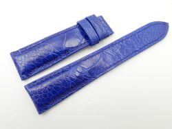 21mm Blue Genuine OSTRICH Skin Leather Watch Strap #WT2435