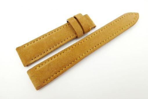 18mm/16mm Mustard Genuine Suede Leather Watch strap #WT2434