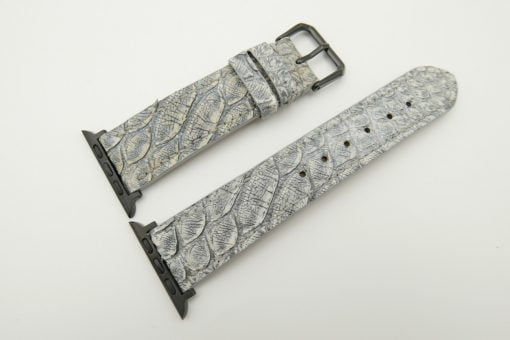 22mm/20mm Vintage Grey Genuine Python Leather Watch Strap for Apple Watch 42mm #WT2385