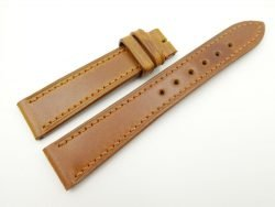 19mm/16mm Tan Brown Genuine Shell Cordovan Leather Watch Strap #WT2447